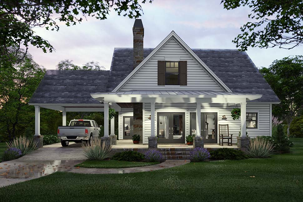 Cottage, Farmhouse Plan with 1302 Sq. Ft., 3 Bedrooms, 2 Bathrooms Picture 5