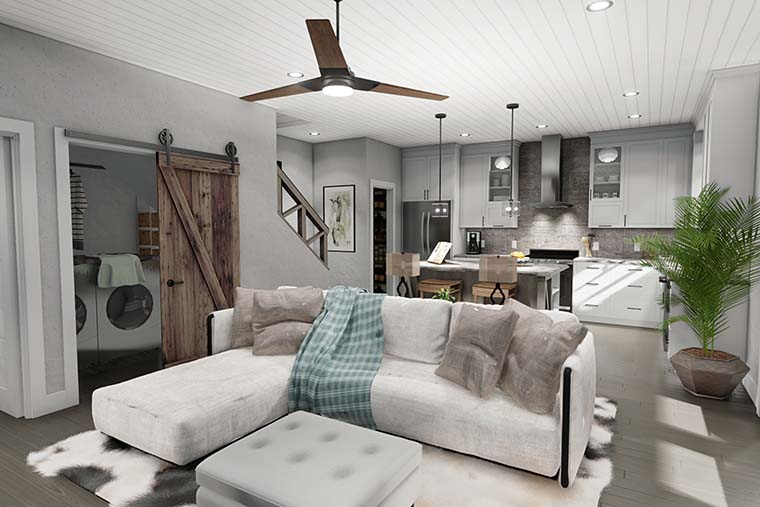 Cottage, Farmhouse Plan with 1302 Sq. Ft., 3 Bedrooms, 2 Bathrooms Picture 6