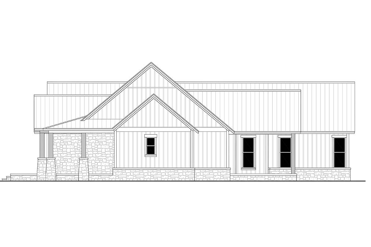 Country, Farmhouse, Traditional Plan with 2454 Sq. Ft., 3 Bedrooms, 3 Bathrooms, 3 Car Garage Picture 2