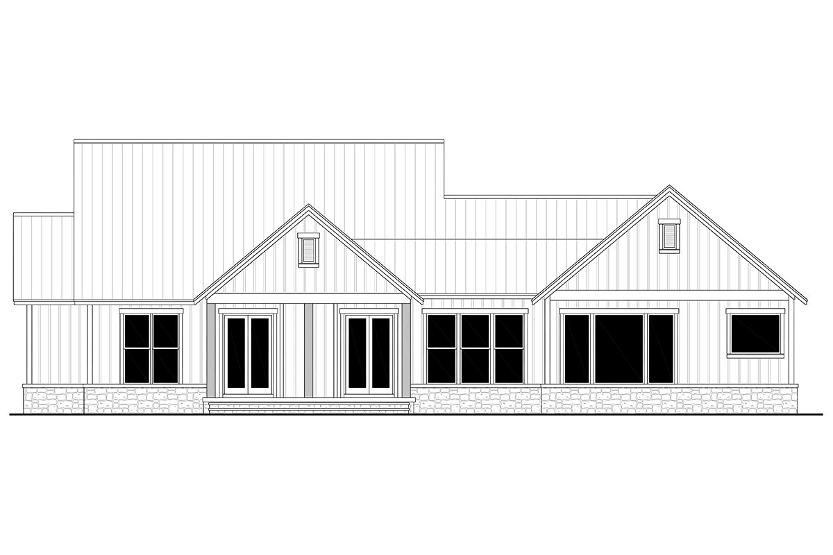 Country, Farmhouse, Traditional Plan with 2454 Sq. Ft., 3 Bedrooms, 3 Bathrooms, 3 Car Garage Picture 5
