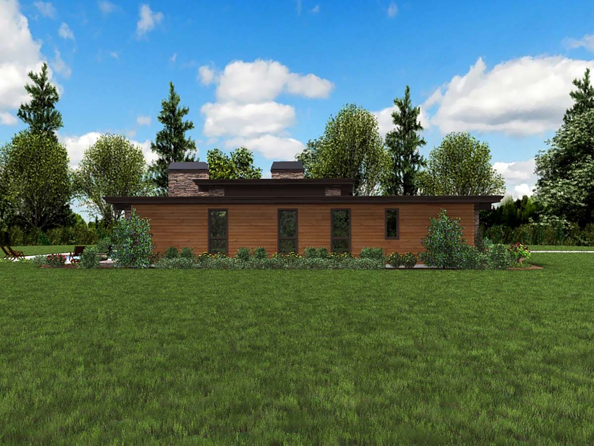 Contemporary, Modern Plan with 2557 Sq. Ft., 3 Bedrooms, 3 Bathrooms, 2 Car Garage Picture 3