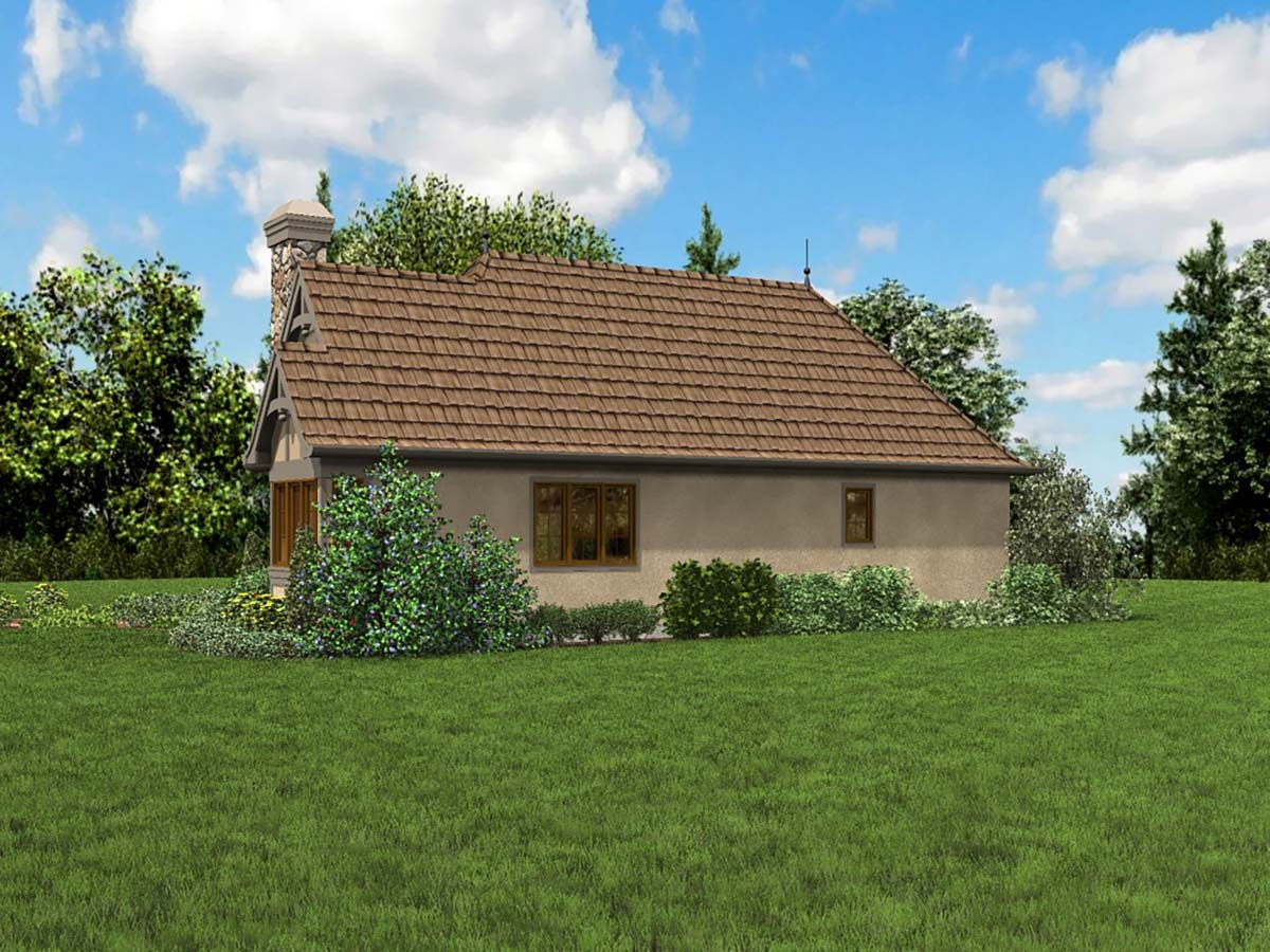 Cottage, French Country, Tudor Plan with 782 Sq. Ft., 2 Bedrooms, 1 Bathrooms Picture 2