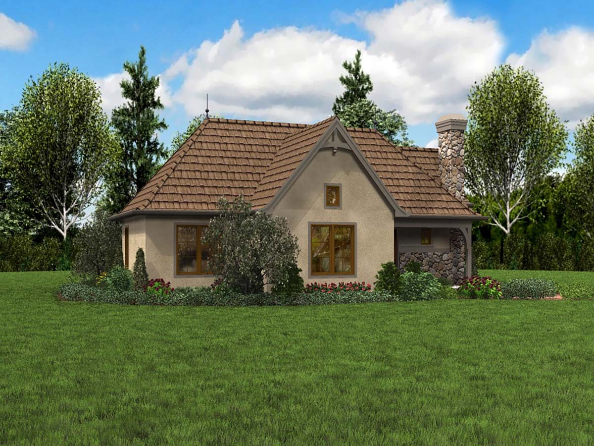 Cottage, French Country, Tudor Plan with 782 Sq. Ft., 2 Bedrooms, 1 Bathrooms Picture 3