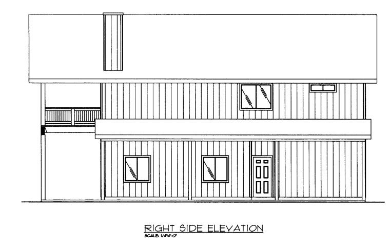 Contemporary, Farmhouse Plan with 1901 Sq. Ft., 2 Bedrooms, 3 Bathrooms, 2 Car Garage Picture 3