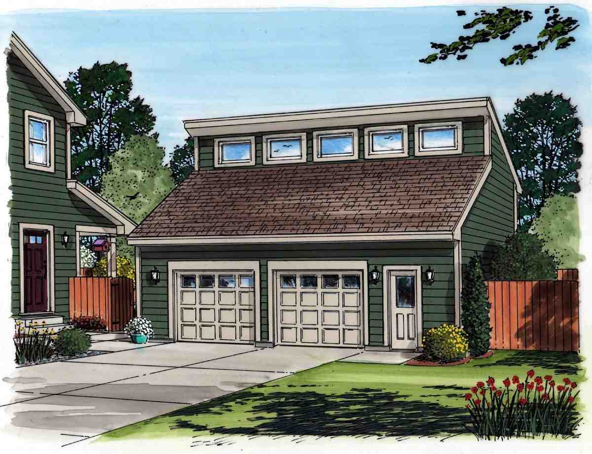 Contemporary 2 Car Garage Plan 30011 Picture 1