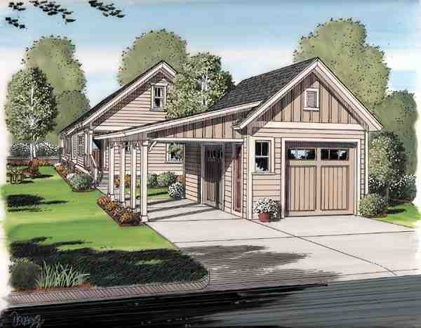 Bungalow, Cottage, Craftsman House Plan 30504 with 6 Beds, 3 Baths, 2 Car Garage Rear Elevation