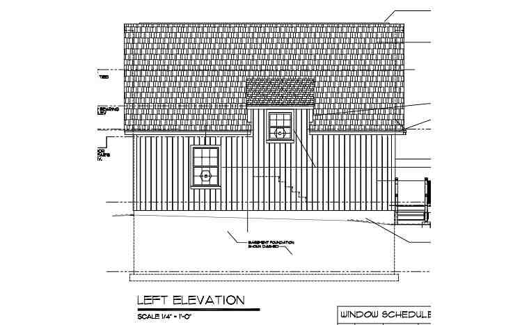 Cabin, Contemporary, Cottage House Plan 35009 with 2 Beds, 1 Baths Picture 1