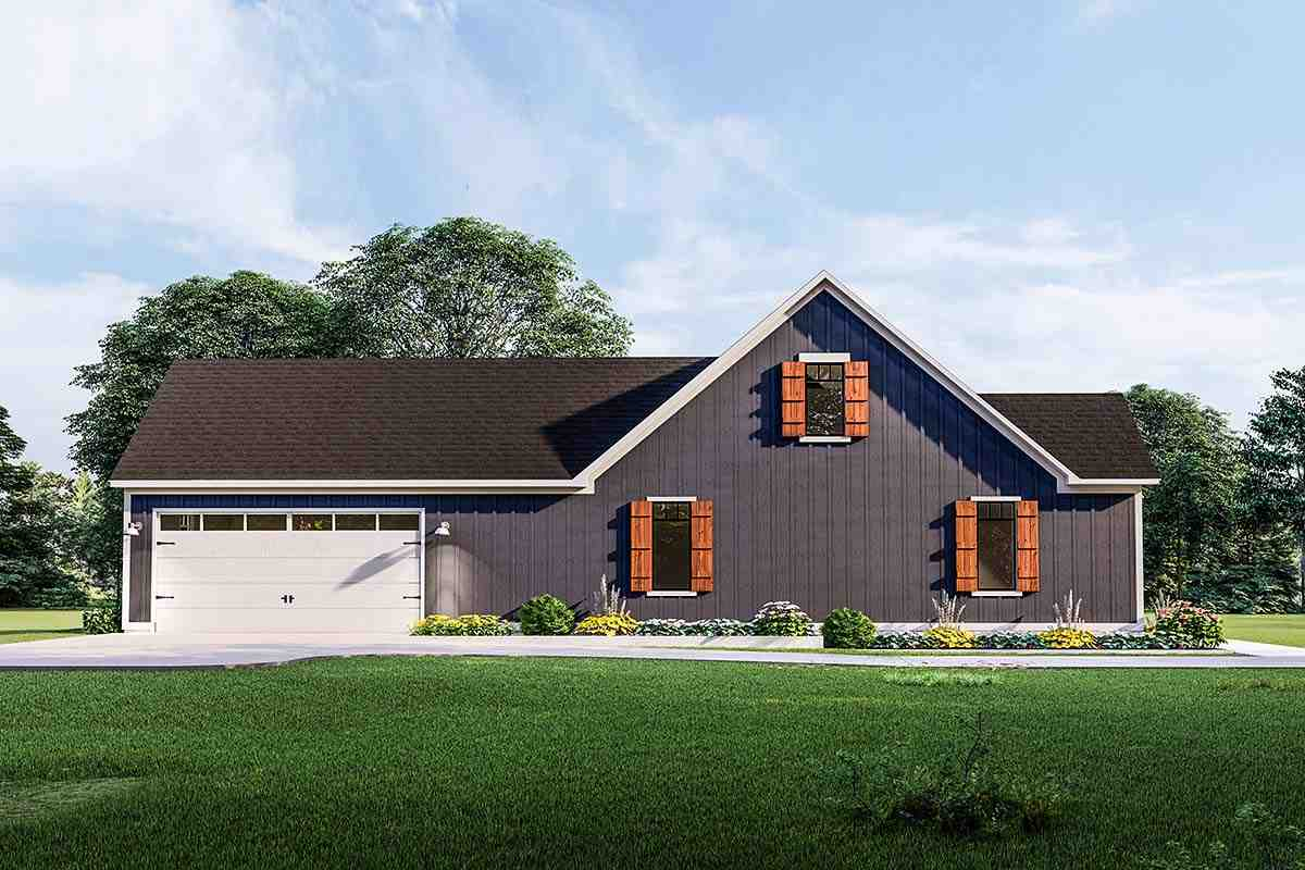 Cottage, Country, Craftsman, Farmhouse, Ranch, Southern, Traditional House Plan 40048 with 3 Beds, 2 Baths, 2 Car Garage Picture 2