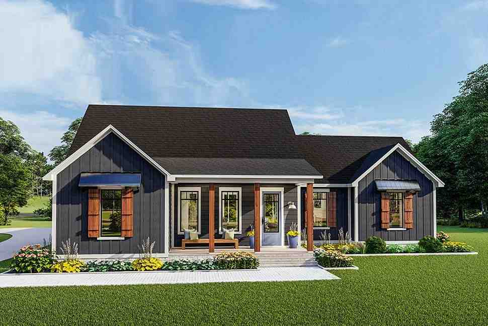 Cottage, Country, Craftsman, Farmhouse, Ranch, Southern, Traditional House Plan 40048 with 3 Beds, 2 Baths, 2 Car Garage Picture 3