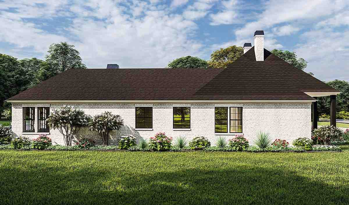 Acadian, Country, Farmhouse, French Country, Southern, Traditional House Plan 40051 with 4 Beds, 3 Baths, 2 Car Garage Picture 2