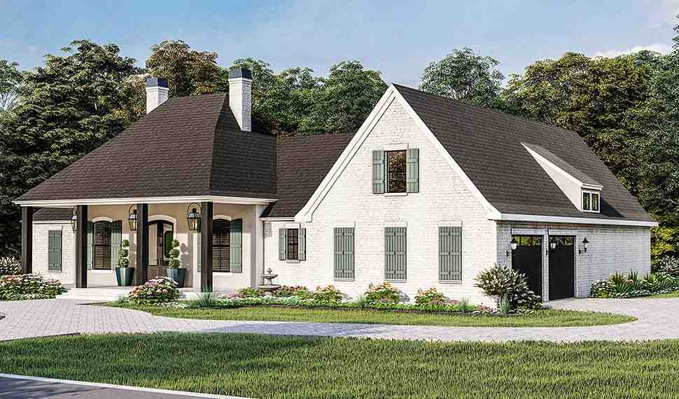 Acadian, Country, Farmhouse, French Country, Southern, Traditional House Plan 40051 with 4 Beds, 3 Baths, 2 Car Garage Picture 3