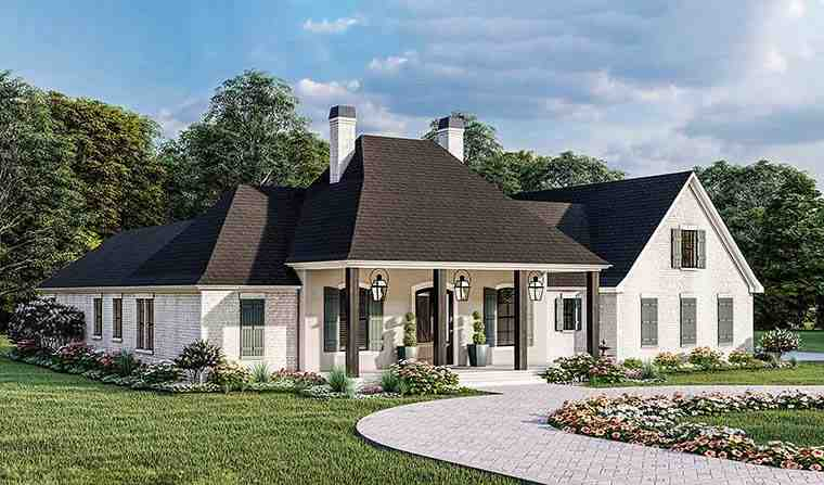 Acadian, Country, Farmhouse, French Country, Southern, Traditional House Plan 40051 with 4 Beds, 3 Baths, 2 Car Garage Picture 5