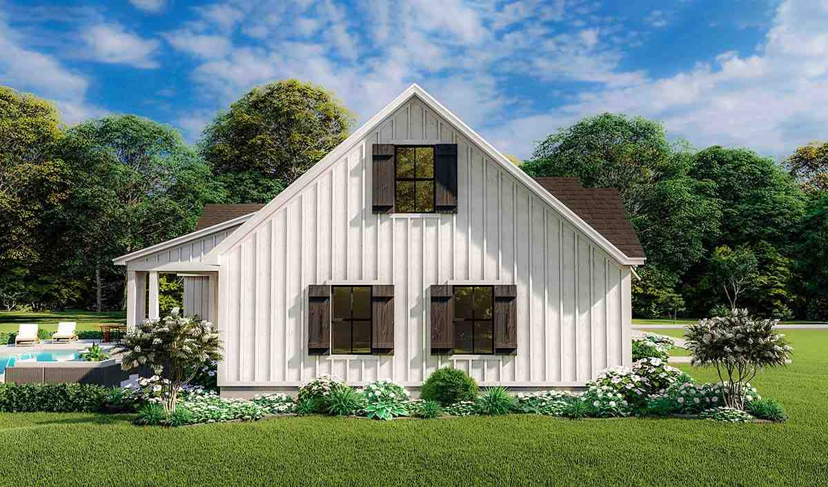 Country, Farmhouse, Ranch, Southern House Plan 40053 with 4 Beds, 2 Baths, 2 Car Garage Picture 2