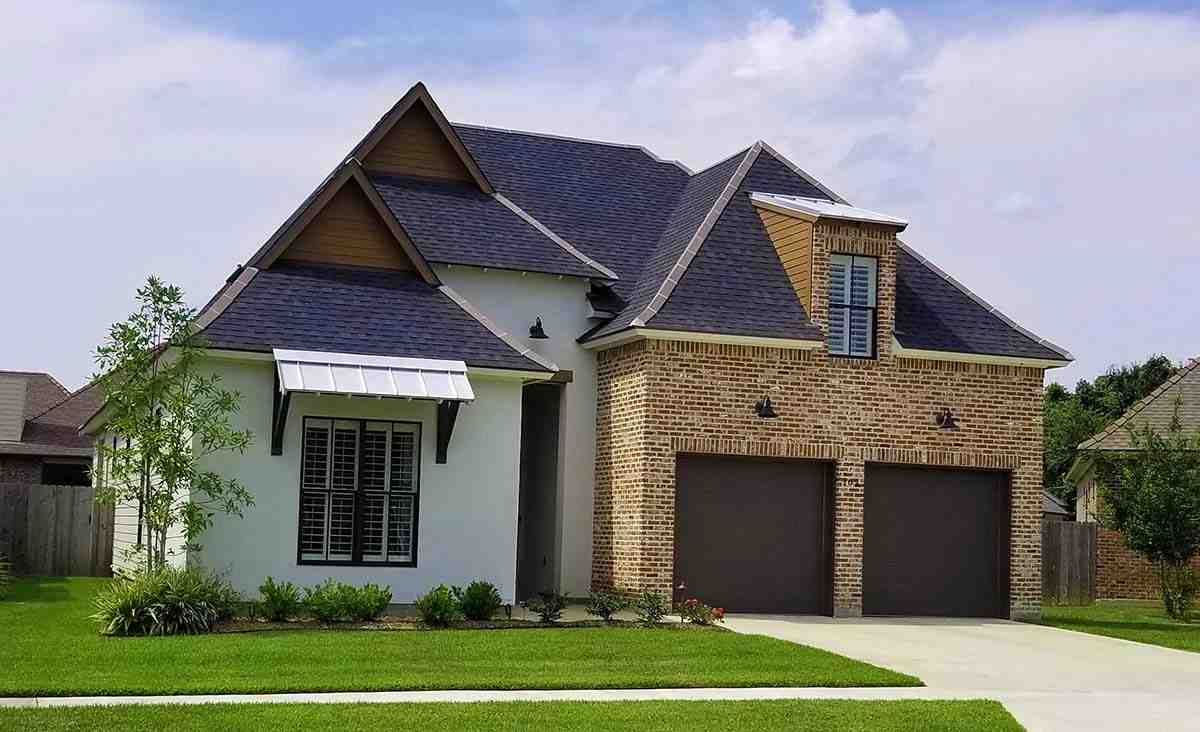 Contemporary, French Country, Southern House Plan 40342 with 4 Beds, 3 Baths, 2 Car Garage Elevation