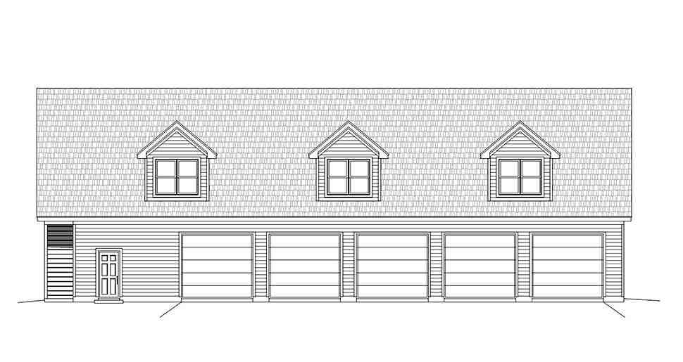 Country, Traditional Garage-Living Plan 40801 with 2 Beds, 3 Baths, 5 Car Garage Picture 3