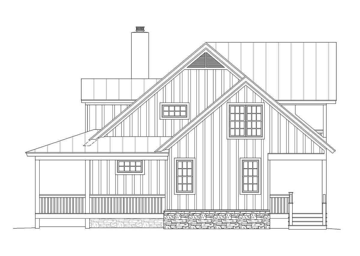 Country, Farmhouse, Traditional House Plan 40822 with 3 Beds, 4 Baths Picture 1