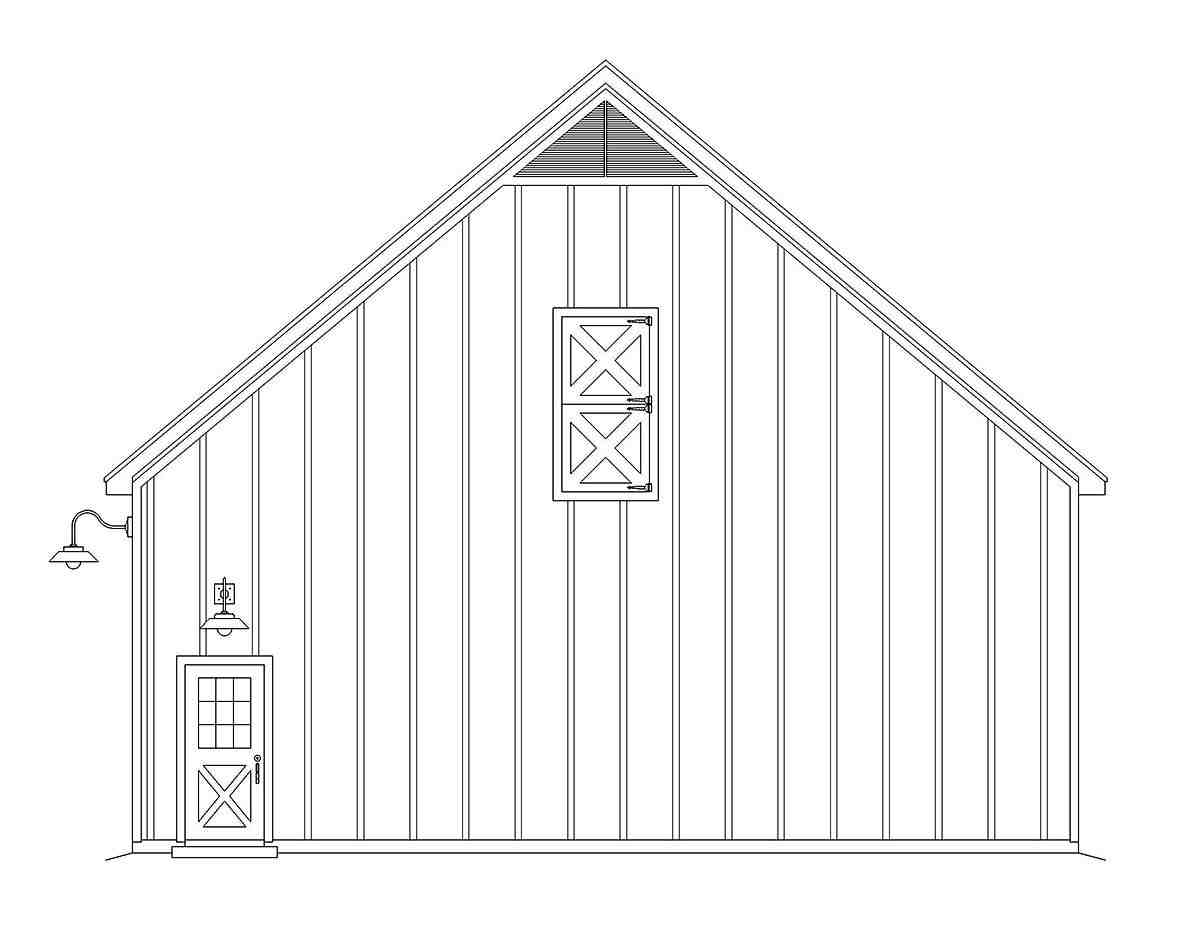 Country, Farmhouse 2 Car Garage Plan 40855 Picture 1
