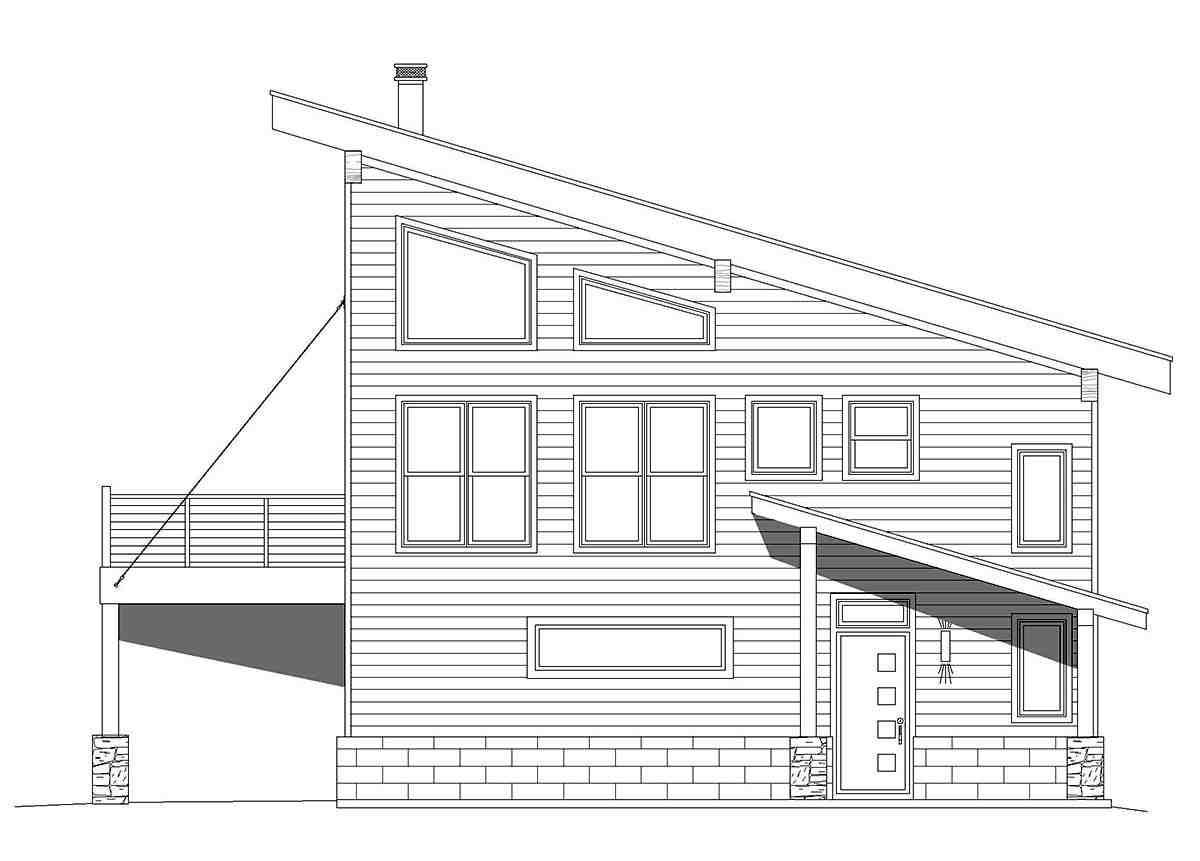 Coastal, Contemporary, Modern Garage-Living Plan 40863 with 2 Beds, 2 Baths, 2 Car Garage Picture 1