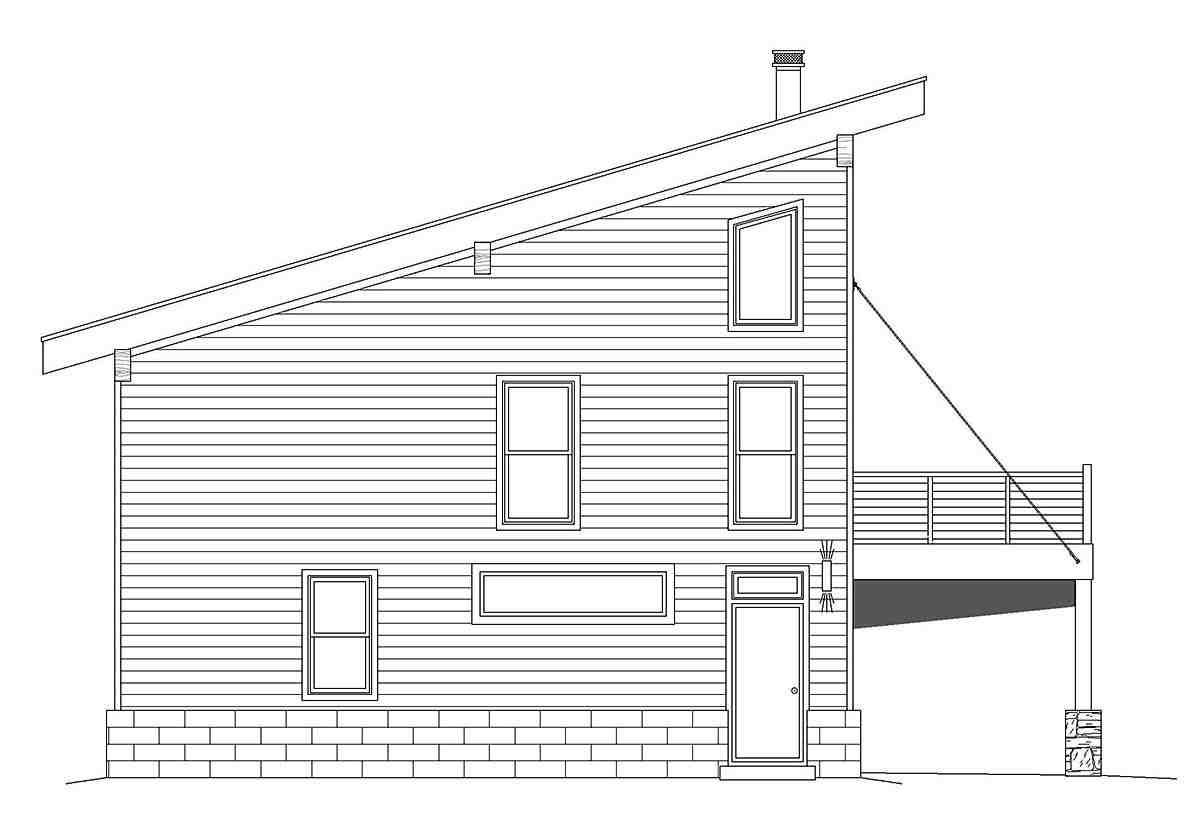 Coastal, Contemporary, Modern Garage-Living Plan 40863 with 2 Beds, 2 Baths, 2 Car Garage Picture 2