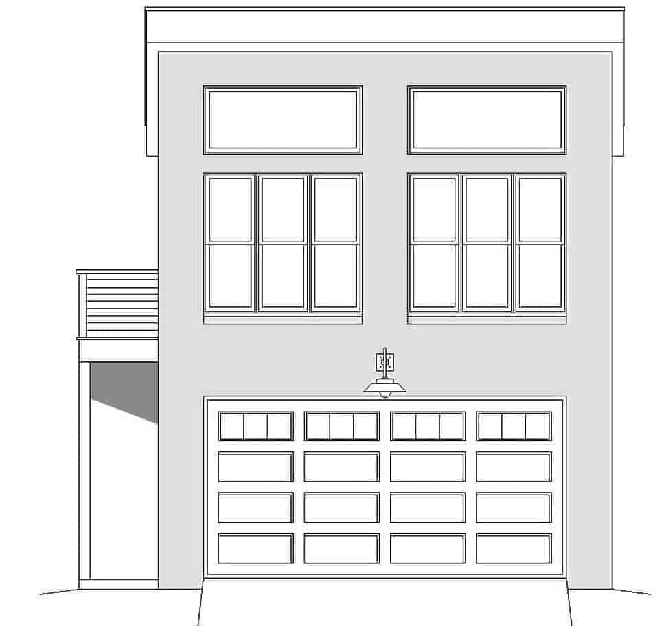 Contemporary, Modern 2 Car Garage Plan 40867 Picture 3