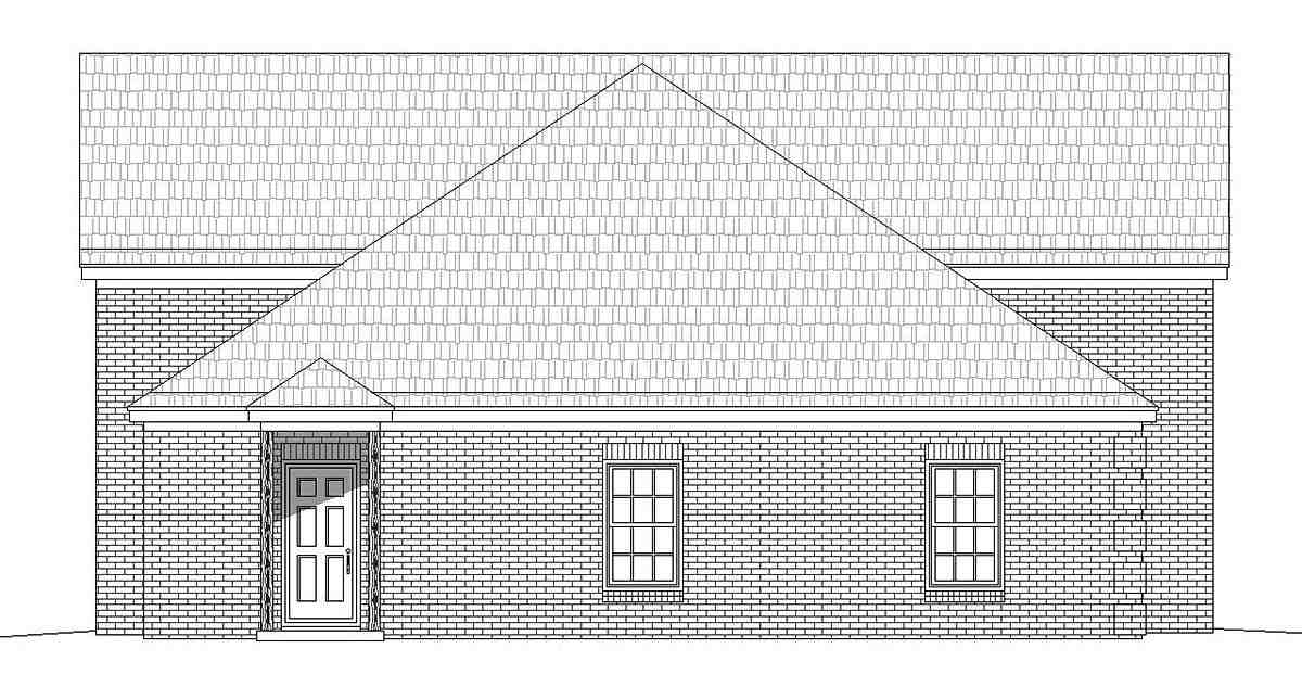 French Country, Traditional 3 Car Garage Plan 40872, RV Storage Picture 1