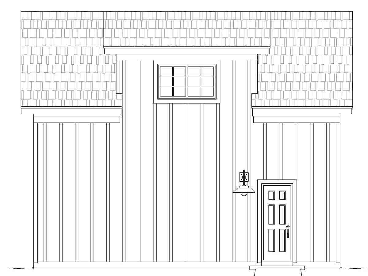 Contemporary, Country 1 Car Garage Plan 40879 Picture 1