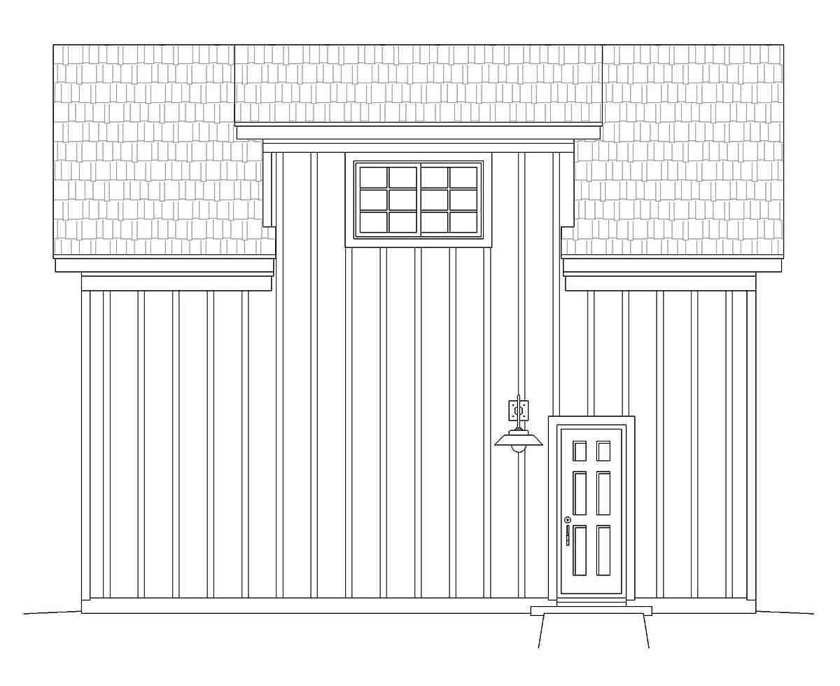 Contemporary, Country 1 Car Garage Plan 40879 Picture 2