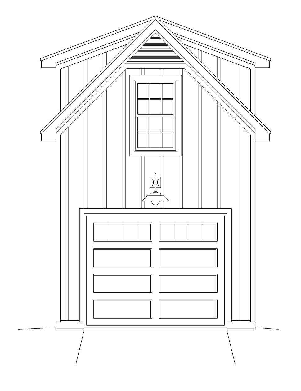 Contemporary, Country 1 Car Garage Plan 40879 Picture 3