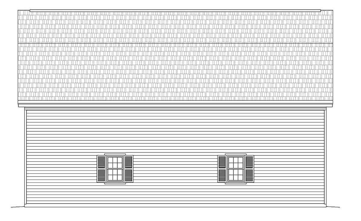 Cottage, Country 4 Car Garage Plan 40885 Picture 1