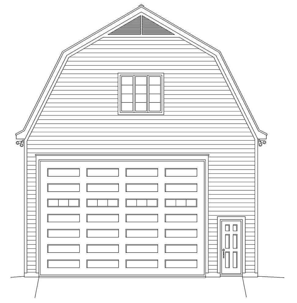 Cottage, Country 4 Car Garage Plan 40885 Picture 3