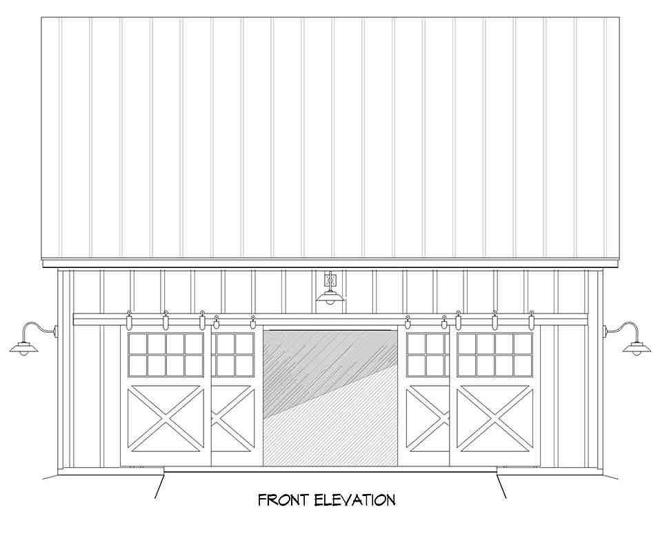Country, Farmhouse, Traditional 2 Car Garage Plan 40888 Picture 3