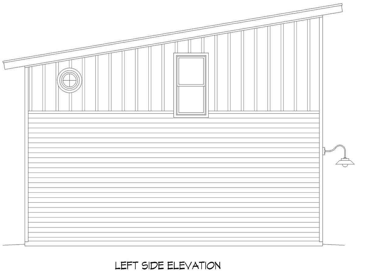 Contemporary, Modern Multi-Family Plan 40889 with 2 Beds, 1 Baths, 4 Car Garage Picture 2