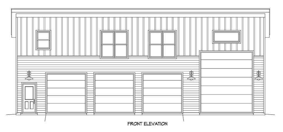 Contemporary, Modern Multi-Family Plan 40889 with 2 Beds, 1 Baths, 4 Car Garage Picture 3