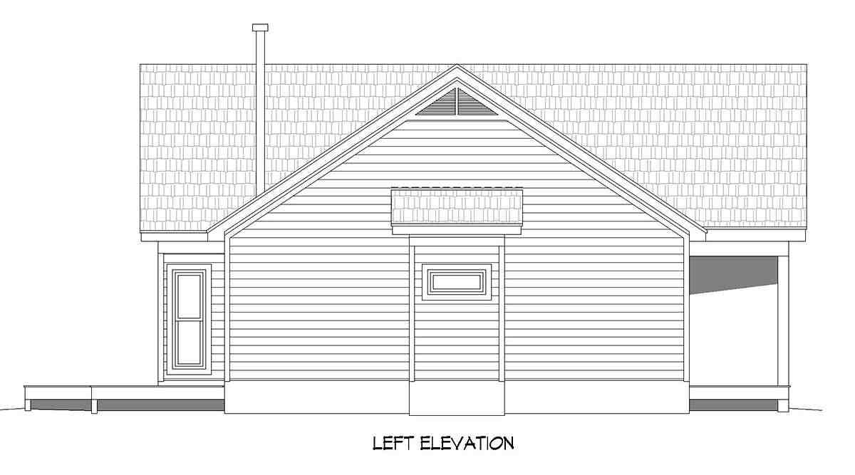 Ranch, Traditional House Plan 40891 with 3 Beds, 2 Baths Picture 2