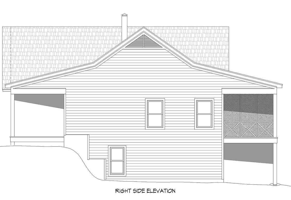 Country, Farmhouse, Ranch, Traditional House Plan 40894 with 4 Beds, 3 Baths, 1 Car Garage Picture 1