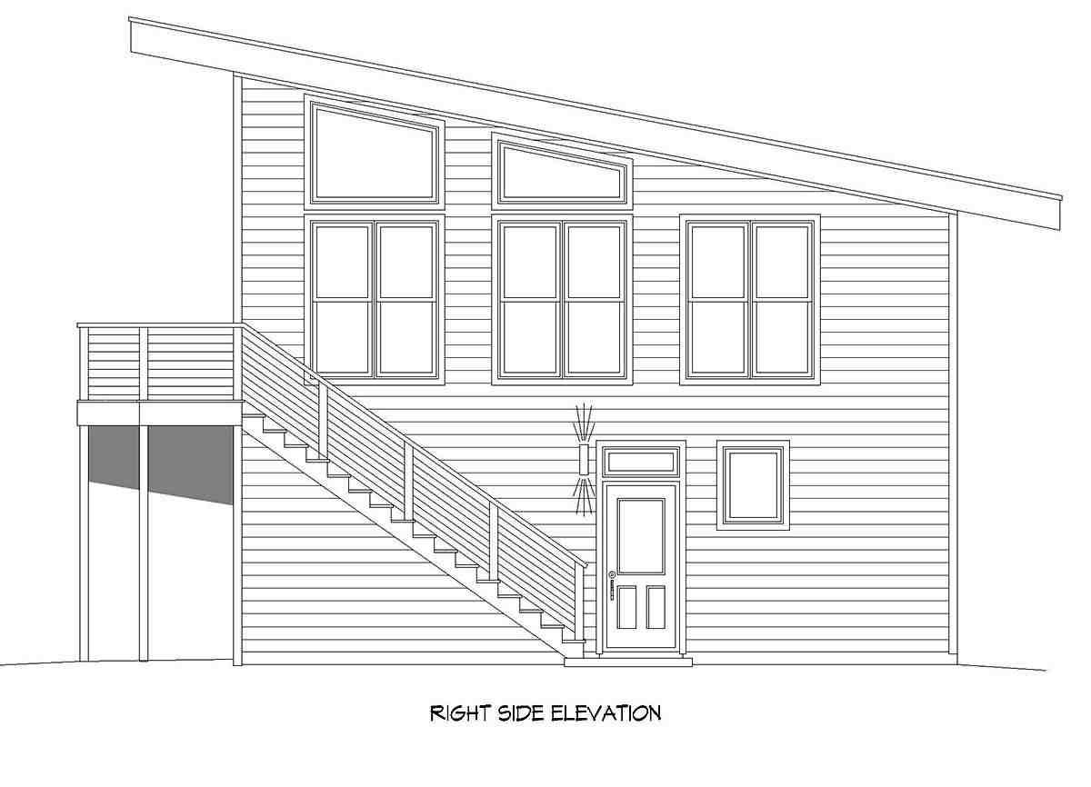 Coastal, Contemporary, Modern Garage-Living Plan 40896 with 2 Beds, 2 Baths, 2 Car Garage Picture 1