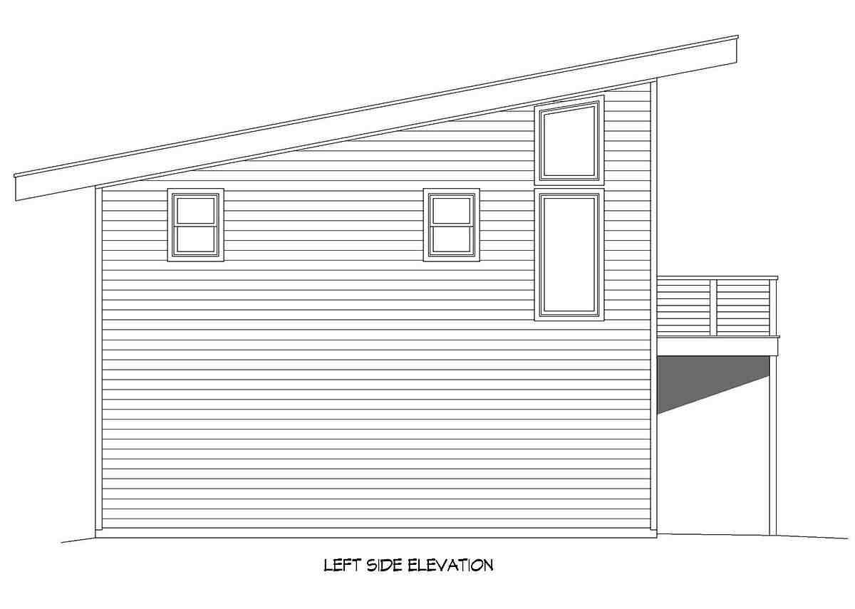 Coastal, Contemporary, Modern Garage-Living Plan 40896 with 2 Beds, 2 Baths, 2 Car Garage Picture 2