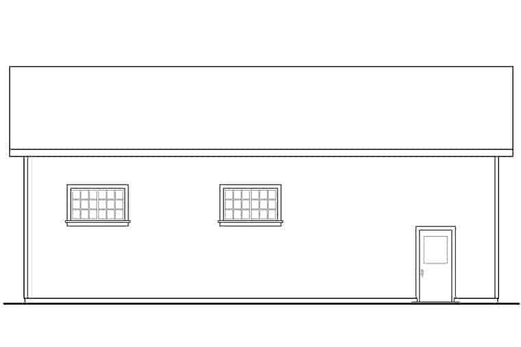 Traditional 3 Car Garage Plan 41274, RV Storage Picture 1