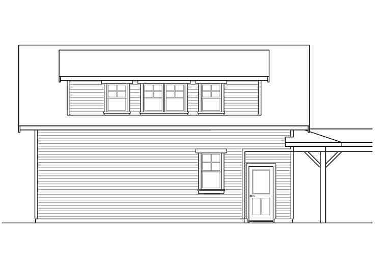 Traditional 2 Car Garage Apartment Plan 41281 Picture 2