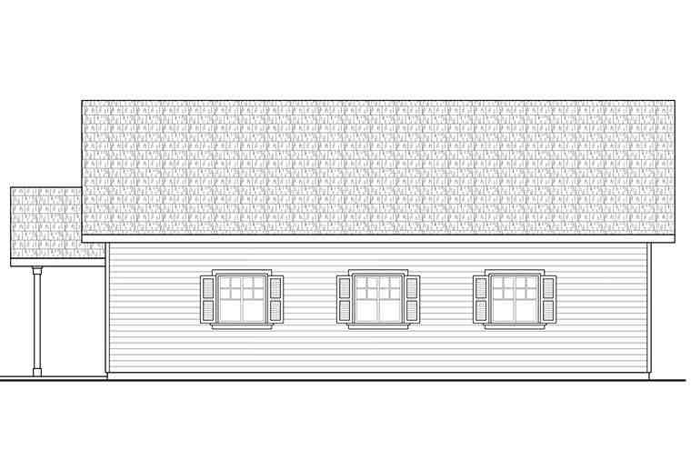 Country, Craftsman, Southern, Traditional 2 Car Garage Apartment Plan 41292 Picture 1
