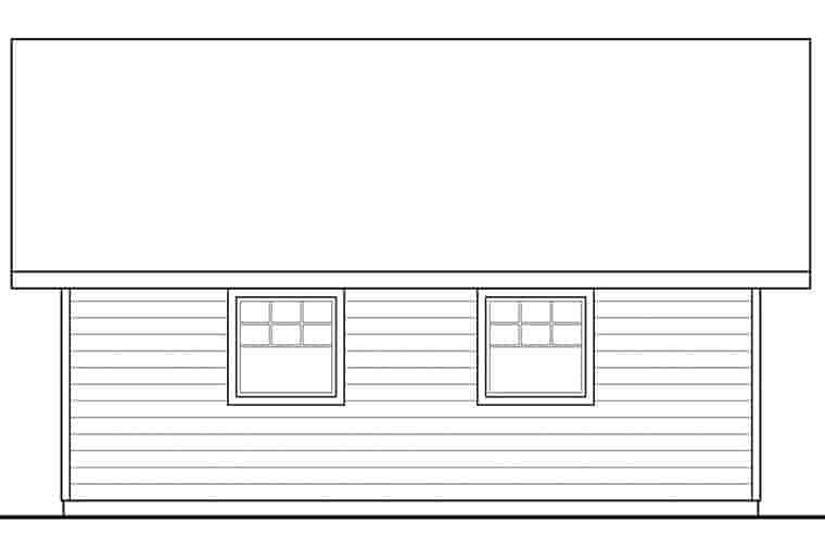 Traditional 2 Car Garage Plan 41293 Picture 1