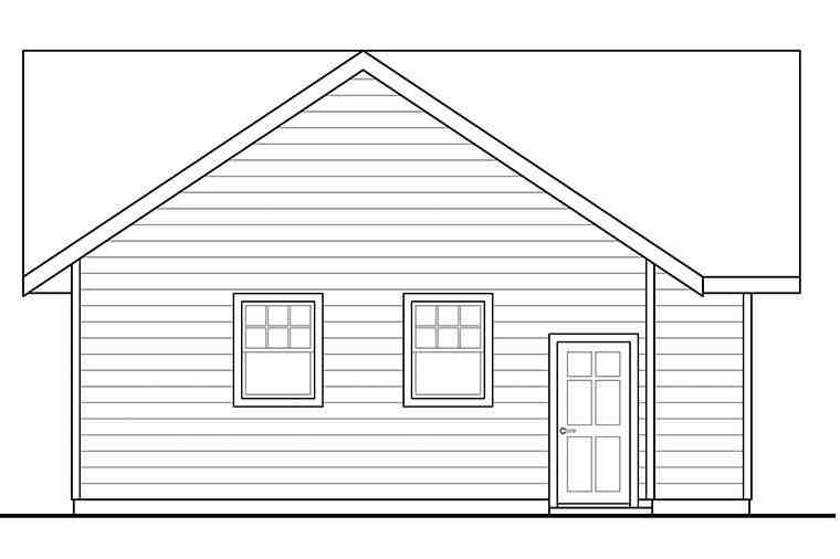 Traditional 2 Car Garage Plan 41293 Picture 2