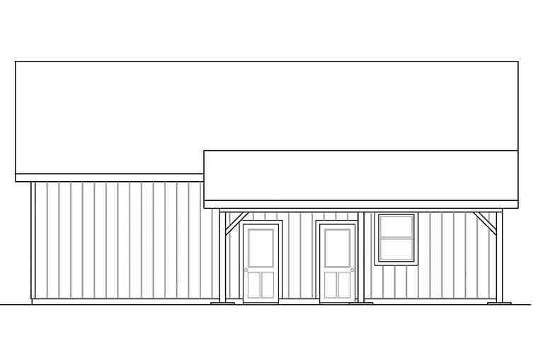 Traditional 2 Car Garage Plan 41296 Picture 1