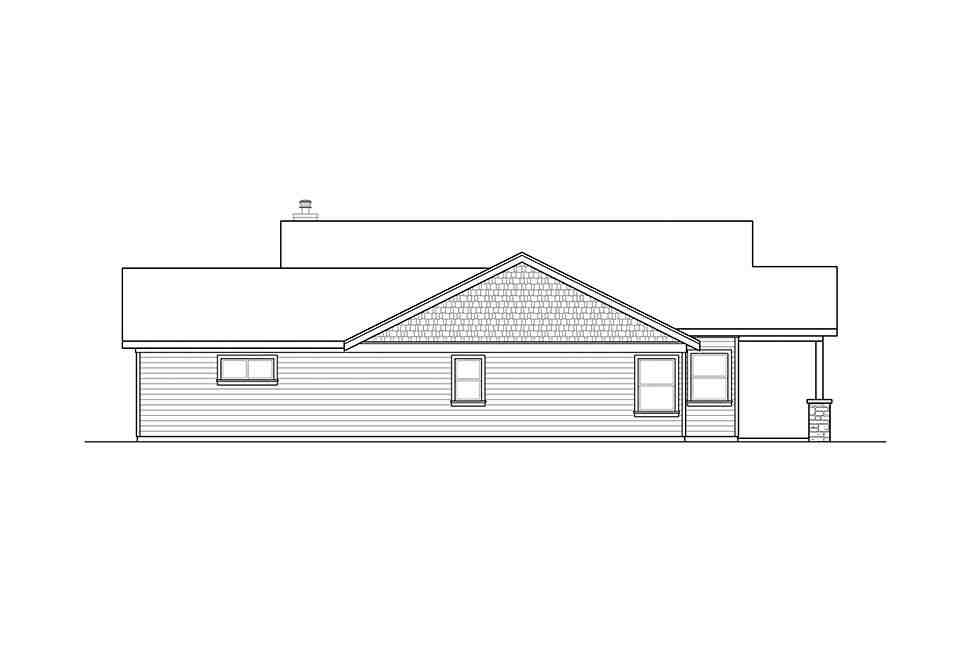 Craftsman, Ranch, Traditional House Plan 41320 with 3 Beds, 3 Baths, 2 Car Garage Picture 1