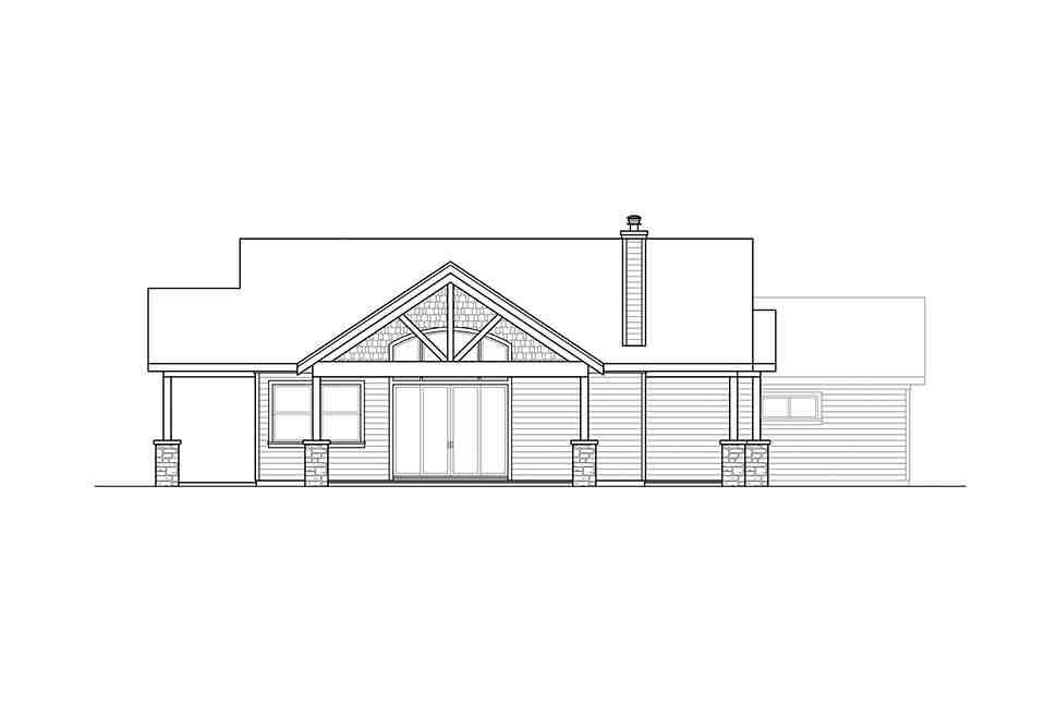 Craftsman, Ranch, Traditional House Plan 41320 with 3 Beds, 3 Baths, 2 Car Garage Picture 2