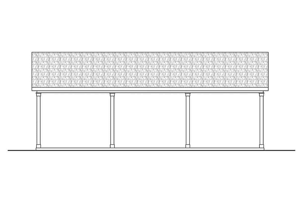 Traditional 4 Car Garage Plan 41365 Picture 1