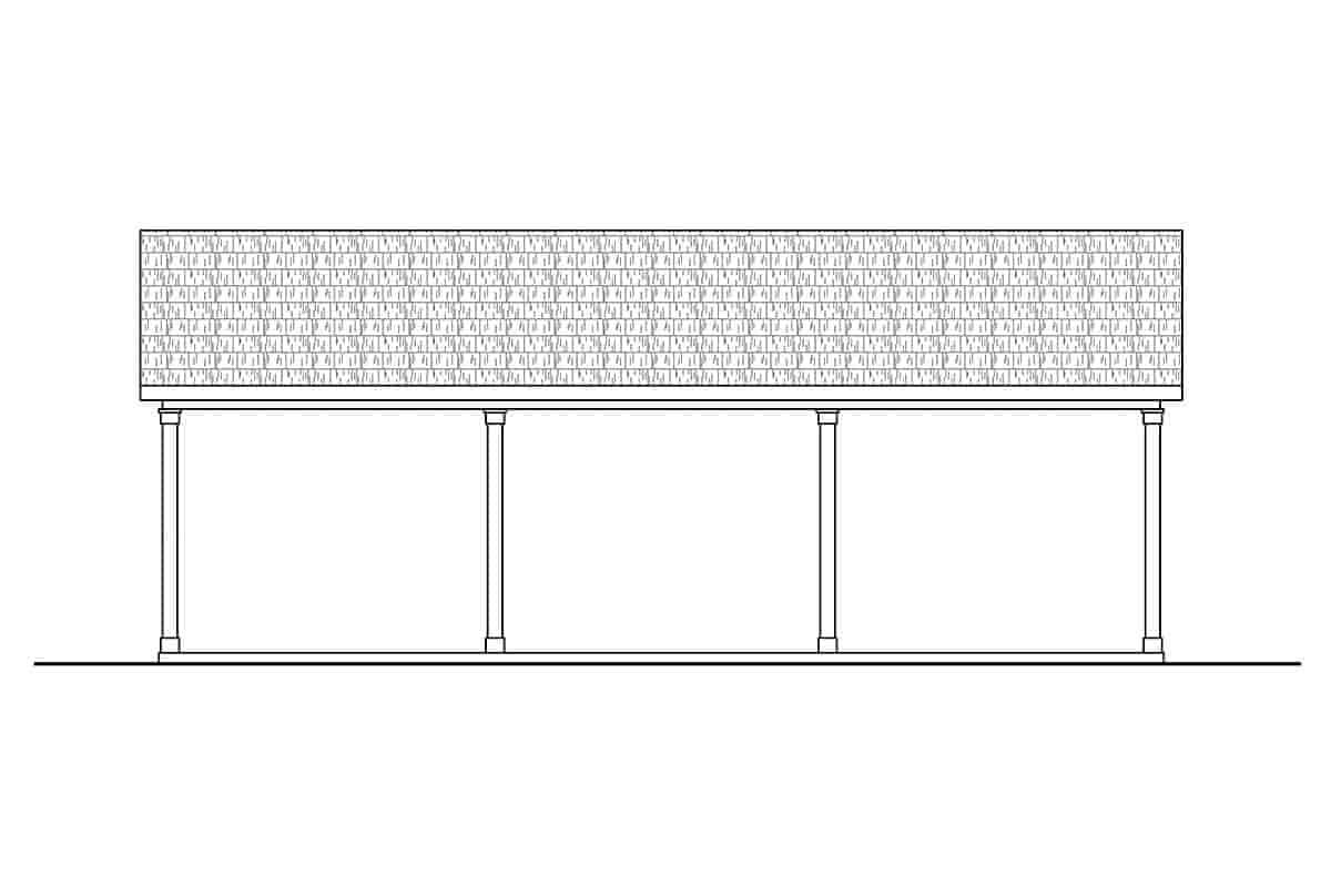 Traditional 4 Car Garage Plan 41365 Picture 2
