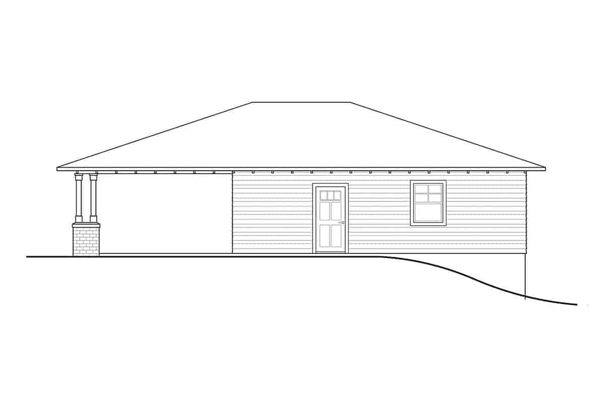 Craftsman, Prairie, Traditional 2 Car Garage Plan 41374 Picture 1