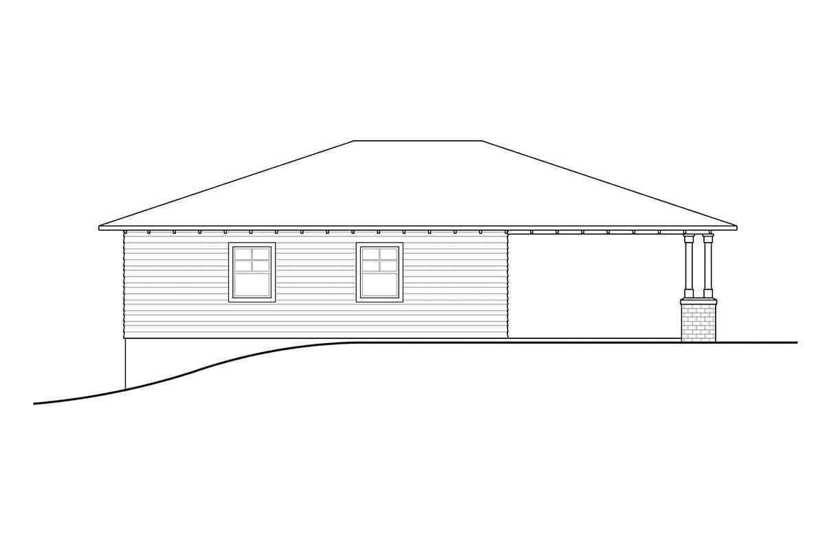 Craftsman, Prairie, Traditional 2 Car Garage Plan 41374 Picture 2