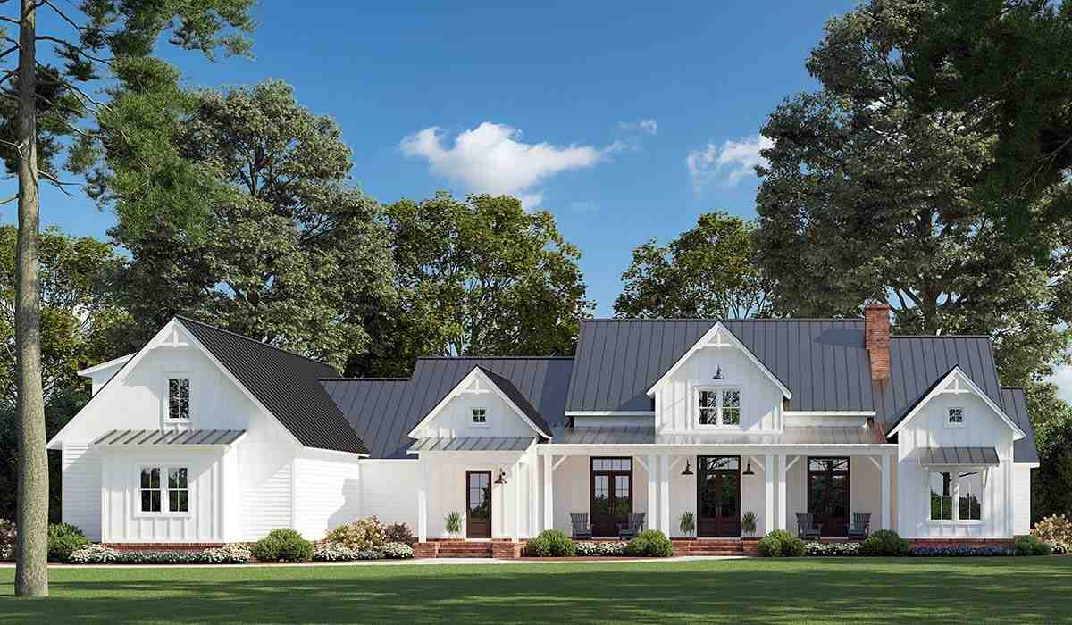 Country, Farmhouse House Plan 41405 with 4 Beds, 4 Baths, 3 Car Garage Picture 1
